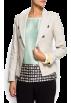 Mango Jacket - coats -  Mango Women's Military Style Blazer Stone