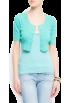 Mango Puloverji -  Mango Women's Openwork Knitted Cardigan Sea Green
