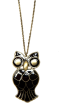 Mango Necklaces -  Mango Women's Owl Necklace Black