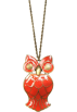 Mango Necklaces -  Mango Women's Owl Necklace Coral