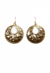 Mango Naušnice -  Mango Women's Round Earrings