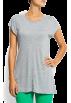 Mango T-shirts -  Mango Women's Round Neck T-shirt GUNMETAL GREY