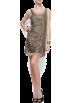 Mango Dresses -  Mango Women's Sequins Layered Dress Gold