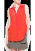 Mango Shirts -  Mango Women's Silk Shirt Orange