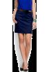 Mango Skirts -  Mango Women's Straight-cut Skirt Navy