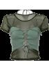 FECLOTHING T-shirts -  Mesh perspective bottoming shirt T-shirt