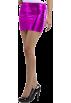 Hot from Hollywood Skirts -  Metallic Womens Sexy Liquid Latex Stretch Mini Skirt
