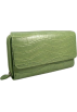 Mundi Wallets -  Mundi Moc Croc My Big Fat Wallet with Calculator - In Choice of Colors Apple Green