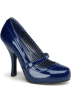 Pin Up Couture Shoes -  Navy Blue Pinup Couture Maryjane Pump - 6