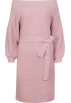 FECLOTHING Dresses -  One-neck collar strapless bat sleeve swe