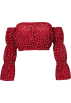 FECLOTHING Shirts -  One-shoulder flared sleeve Slim T-shirt