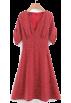 FECLOTHING Dresses -  Open back V-neck beach skirt versatile w