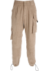 FECLOTHING Capri & Cropped -  Overalls corduroy multi-pocket slacks