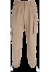 FECLOTHING Calças capri -  Overalls corduroy multi-pocket slacks