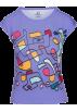 PINaR ERIS T-shirts -  Pastel Mauve Abstract Print Fitted Tshir