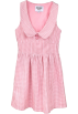 FECLOTHING Dresses -  Plaid Embroidery Doll Collar Dress