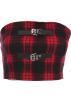 FECLOTHING Vests -  Plaid leather buckle personality body tu