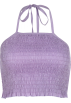 FECLOTHING Shirts -  Purple halter strap vest