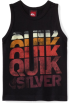 Quiksilver Top -  Quiksilver Boys 2-7 Stack High Kids Tank T-Shirt Black