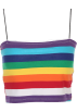 FECLOTHING Vests -  Rainbow Sling Short Vest