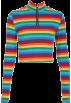 FECLOTHING Košulje - duge -  Rainbow Zip Long Sleeve T-Shirt