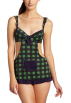 Rampage Underwear -  Rampage Women's School Girl Babydoll with Thong Green Plaid