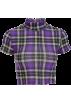 FECLOTHING Shirts -  Retro Half Turtleneck Plaid Short Sleeve