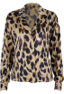 FECLOTHING Long sleeves shirts -  Retro Shirt Women's Leopard Print Long S