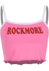 FECLOTHING Shirts -  Retro cute pink mini halter top