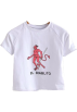 FECLOTHING T-shirts -  Round Neck Stretch Print T-Shirt