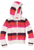 Roxy Long sleeves shirts -  Roxy Kids Girls 2-6x Teenie Wahine - Comfy Cozy Stripe Hoodie Aurora Red Stripe