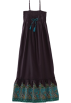 Roxy Kleider -  Roxy Kids Girls 7-16 High Tide Maxi Dress Blue Black