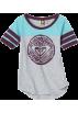 Roxy T-shirts -  Roxy Kids Girls 7-16 Snow Breeze Tee Heather Grey/Purple
