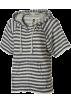 Roxy Shirts -  Roxy Sea Swell Stripe Full-Zip Hoodie - Short-Sleeve - Women's Blue Black Stripe