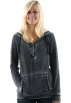 "Roxy Pullovers -  Roxy Women's ""Ice Cap"" Fleece Lined Hood Pullover Hoodie Black 474693-BLK"