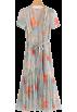 FECLOTHING Dresses -  Ruffled waist slimming holiday chiffon d