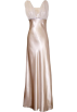 PacificPlex Dresses -  Satin Chiffon Prom Dress Holiday Formal Gown Crystals Full Length Junior Plus Size Gold