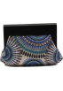 Scarleton Clutch bags -  Scarleton Wood Framed Embroidered Clutch H3002 Blue
