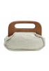 Scarleton Clutch bags -  Scarleton Wood Framed Linen Clutch H3036 Off white