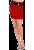 Hot from Hollywood Skirts -  Sexy High Waist Wide Belt Formal Officewear Straight Pencil Cut Mini Skirt