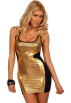 Hot from Hollywood Dresses -  Sleeveless Low Cut Round Neckline Sequin Print Fitted Clubwear Party Mini Dress