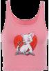 FECLOTHING Shirts -  Slim-fit headband U-neck Tom cat cotton