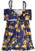 FECLOTHING Dresses -  Sling with lemon print bag hip dress