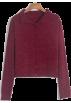 FECLOTHING Cardigan -  Small lapel sweater cardigan single-brea