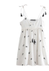 FECLOTHING Dresses -  Strap embroidery dress