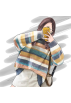 FECLOTHING Pullovers -  Striped sweet knit sweater