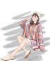 FECLOTHING Пуловер -  Sweet Striped Thick Wool Autumn Knit Top