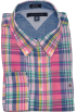 Tommy Hilfiger Long sleeves shirts -  Tommy Hilfiger Men Custom Fit Checkered Long Sleeve Shirt (L, Multi)