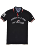 Tommy Hilfiger T-shirts -  Tommy Hilfiger Men Custom Fit Graphic Logo Polo T-shirt Black/White/Red