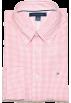 Tommy Hilfiger Long sleeves shirts -  Tommy Hilfiger Men Custom Fit Plaid Long Sleeve Logo Shirt Light Pink/White